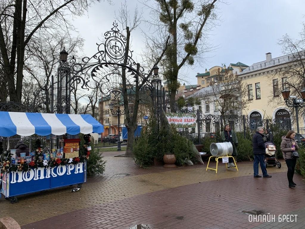 Ёлочный базар в Бресте